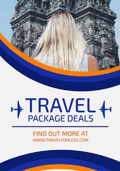 Orange Blue & White Travel Flyer Lifestyle