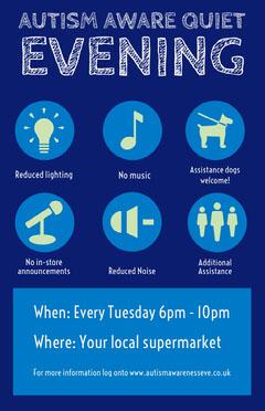Blue Illustrated Autism Awareness Flyer Awareness