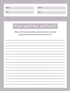 purple writing worksheet  Education