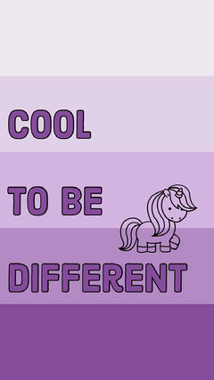 cool to be different  Purple
