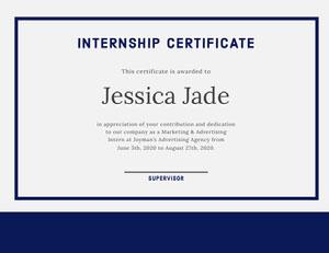 Jessica Jade Certificat de diplôme