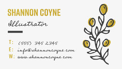 Black and Gold Plant Icon Illustrator Business Card Gold