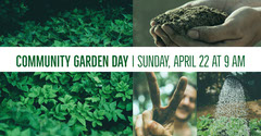 Community Garden Day Facebook Event Cover with Collage Garden