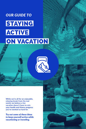 Blue and White Guide Poster Yoga Posters