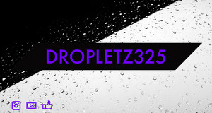 Purple and White Twitch Banner with Drops on Glass Banner do Twitch