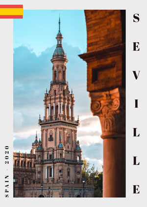 Light Toned, Monument Building, Seville Travel Postcard Postcards