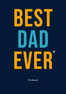 Best Dad Ever Tarjetas para el Día del Padre