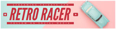 Claret and Blue Retro Racer Banner Social Media Flyer