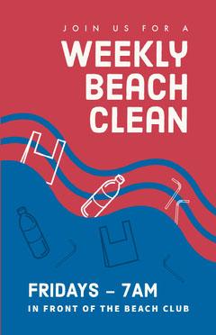 Weekly Beach Clean Flyer Beach