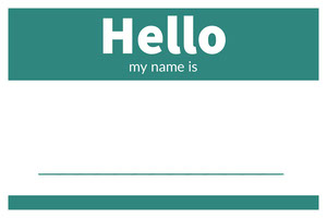 Turquoise Simple Name Tag 네임택