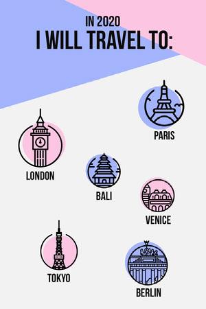 2020 Travel list Pinterest  Goal-Setting Worksheet