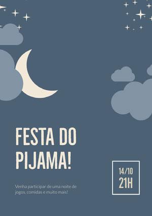 Festa do pijama! Convite por email