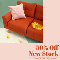 Pink and Red Furniture Store Instagram Square Ad House For Sale Flyer