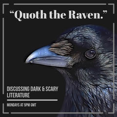 Black Horror and Scary Literature Club Instagram Square Post with Raven Scary