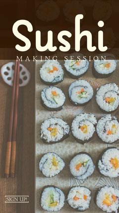 Sushi Recipe Instagram Story Japan