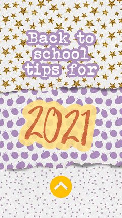Beige And Purple Back To School Tips Instagram Story Teacher