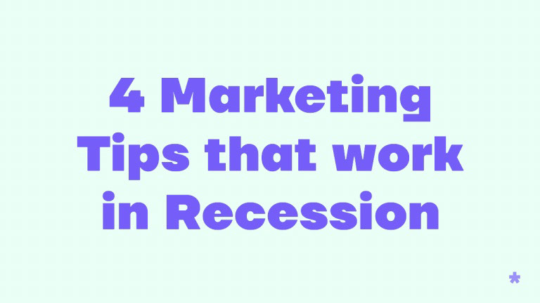 4 Marketing Tips that work in Recession