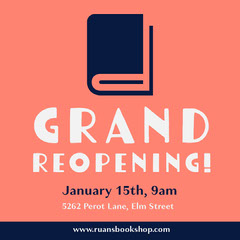 Pink & Navy Grand Opening Instagram Square Grand Opening Flyer