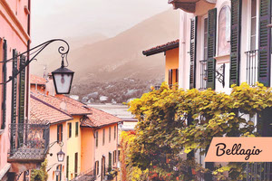 Bellagio Italy postcard  Urlaubspostkarte