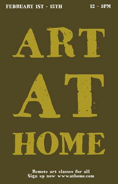Green Remote Art Workshop Poster  Workshop