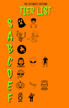 orange vertical tier list  Halloween