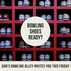 Bowling Shoes Ready? Game Night Flyer