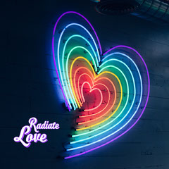 radiate love instagram Neon