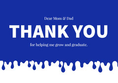 White and Blue Thank You Card Family