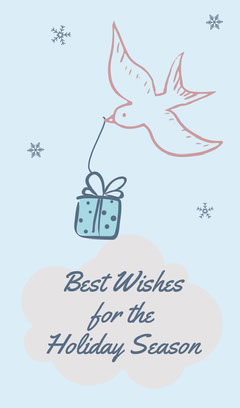 Bird Present Holiday Gift Tag Bird
