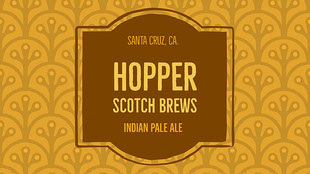 HOPPER SCOTCH BREWS ビールラベル