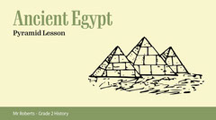 green yellow black history ancient Egypt pyramid presentation widescreen  Back to School