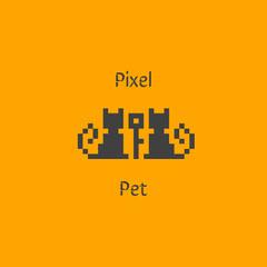 Orange and Black Game Logo Cat