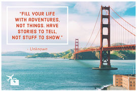 Inspirational Quote Postcard with Golden Gate Bridge Vykort