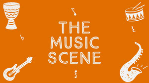 Orange Illustrated Music Vlog Youtube Channel Art Music Banner