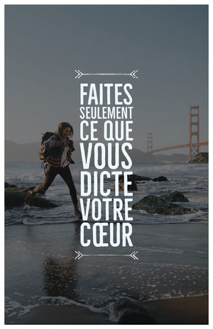 passion quote poster Affiche