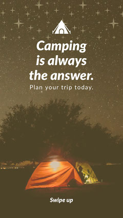 Camping is always the answer. Stars