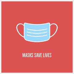 mask saves lives instagram  Red