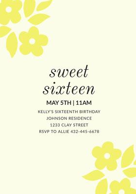sweet<BR>sixteen