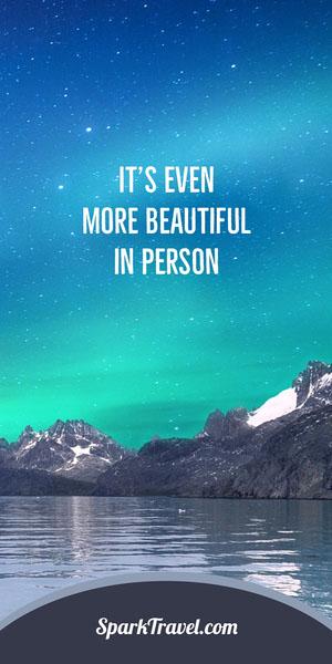 Aurora Borealis Travel Vertical Ad Banner Reclamebanner