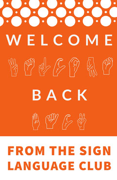 Orange and White Welcome Back Poster Welcome Poster