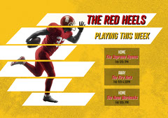 Red And Yellow Football Games Flyer Football