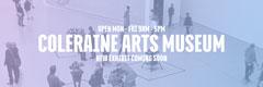 Blue Gradient Coleraine Arts Museum Twitter Banner Museum