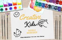 kids doodle workshop poster Kids