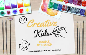 kids doodle workshop poster Affiche d'art