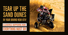 Black and Gold ATV Promo Ad Facebook Banner Desert