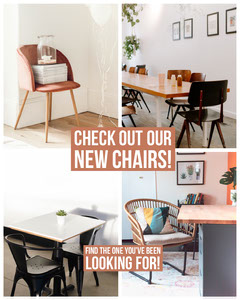 Beige and White New Chairs Promo Furniture Sale