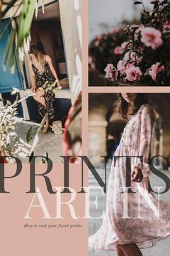 Pink With Floral Prints Social Post Dress