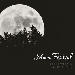 Black Moon Festival Instagram Square Ad with Moon at Night Moon