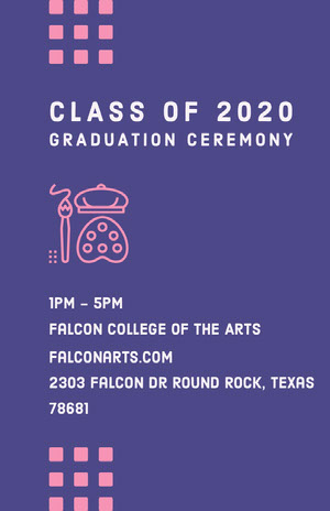 class of 2020<BR>Graduation Ceremony Graduation Poster