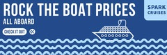 Blue and White Spark Cruises Banner Cruise